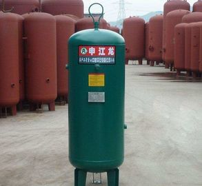 Carbon Steel Vertical Air Compressor Tank , Air Storage Tank 8 / 10 / 13 / 16 bar