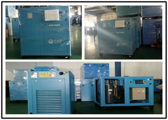 90KW Variable Speed Screw Compressor , Lubricated Oil Injected Screw Compressor