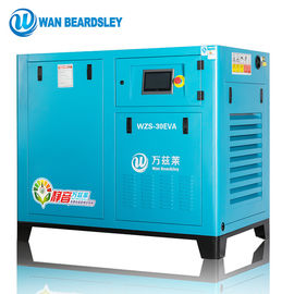 Screw Type Oil Injected Screw Compressor Direct Driven High Speed Blue  Color
