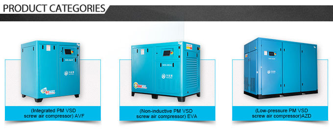 PM Motor Screw Type 2 Stage Air Compressor Variable Frequency Drive 22KW